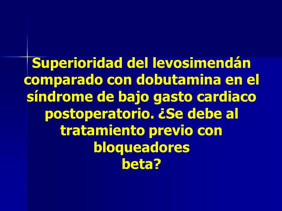 Superioridad del levosimendán comparado con dobutamina en el