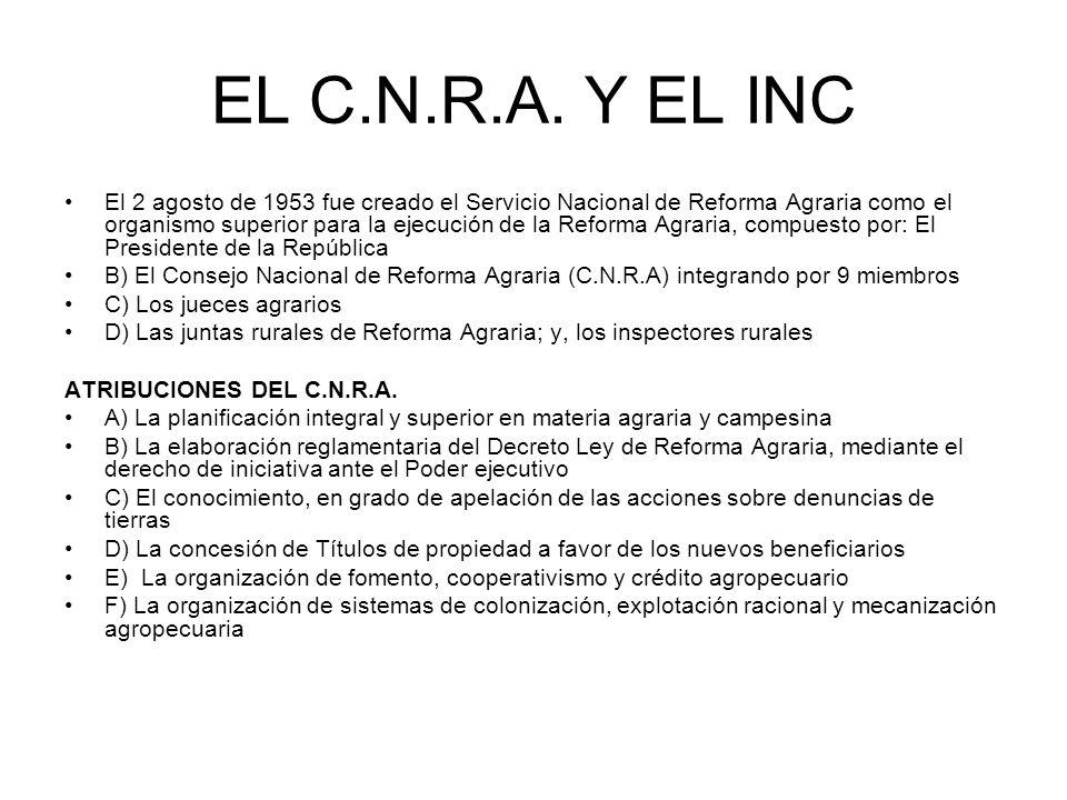 EL C.N.R.A. Y EL INC