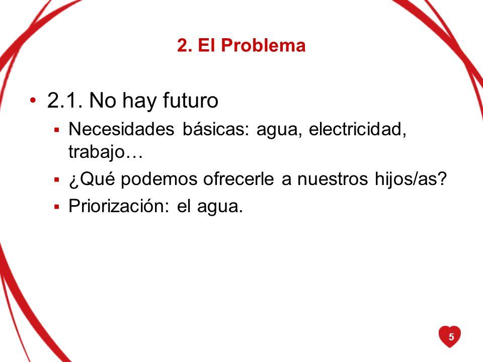 2.1. No hay futuro 2. El Problema