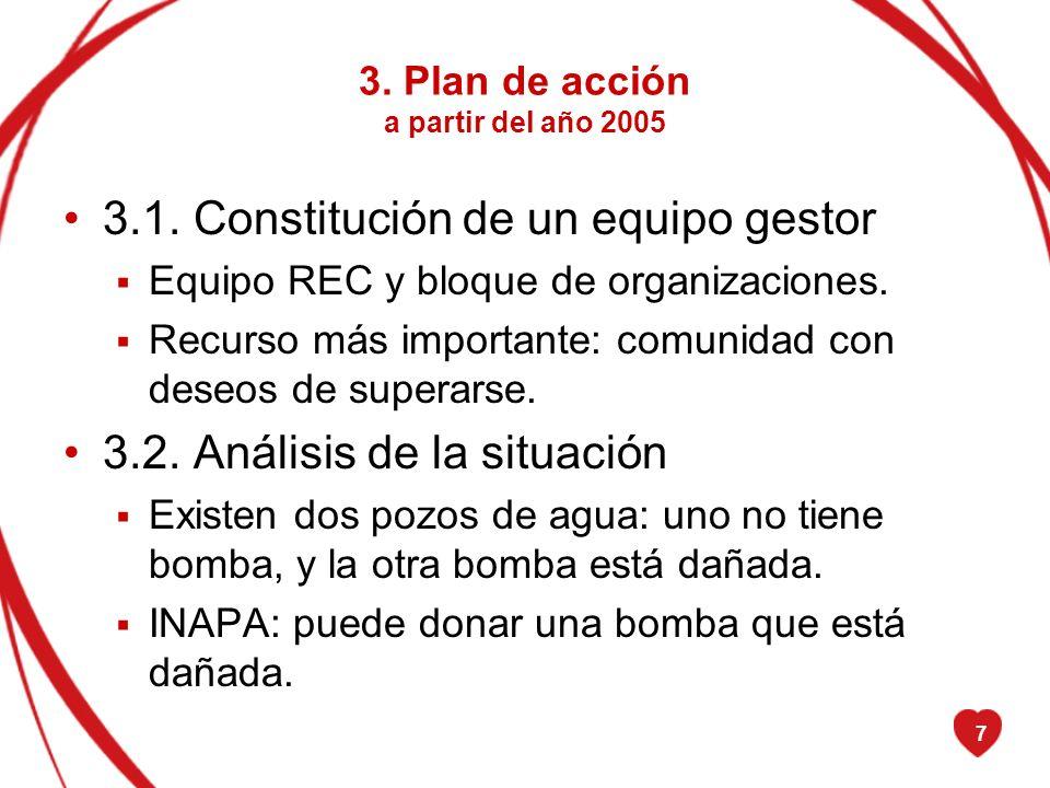3. Plan de acción a partir del año 2005