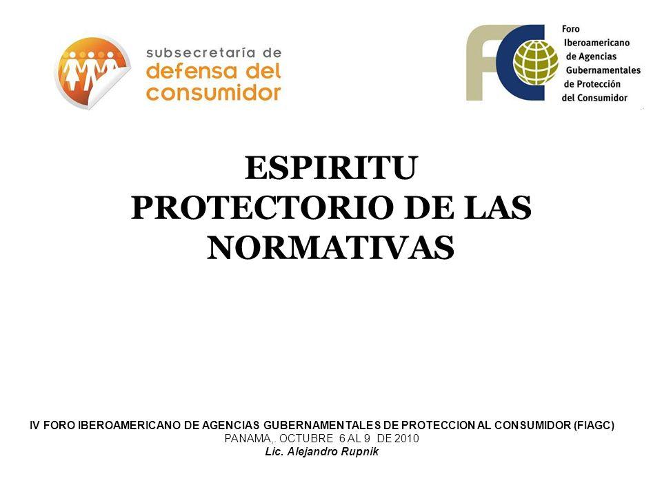 ESPIRITU PROTECTORIO DE LAS NORMATIVAS