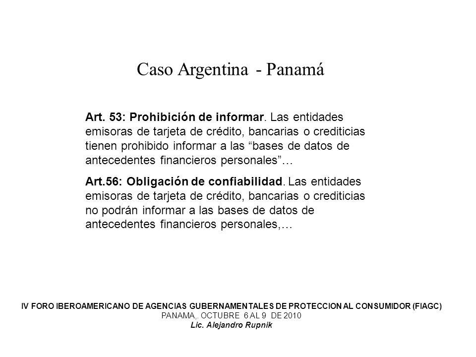 Caso Argentina - Panamá