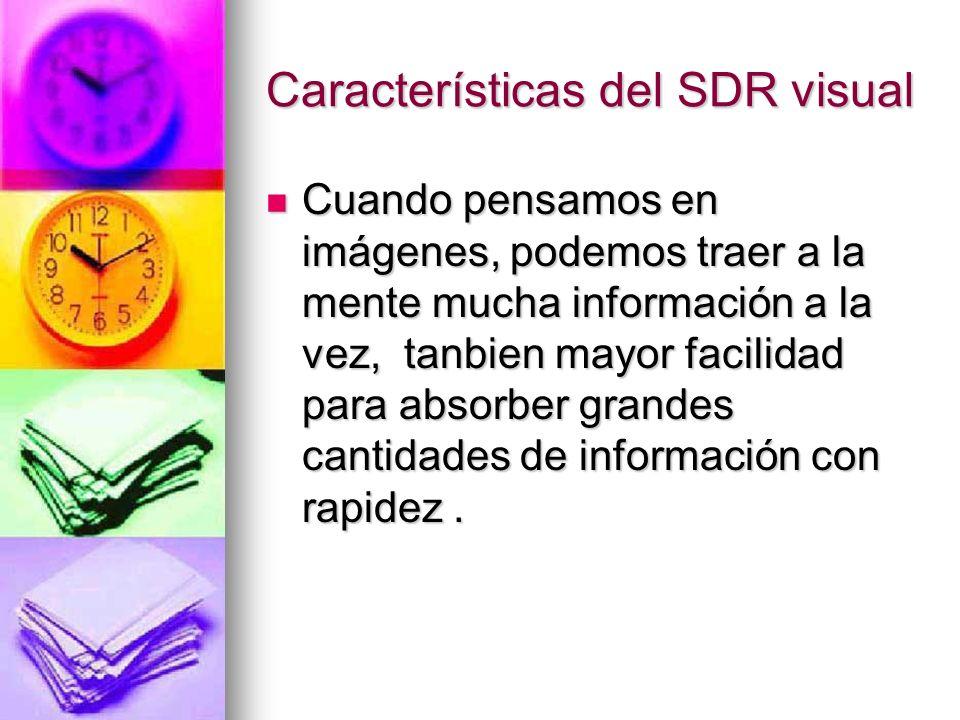 Características del SDR visual