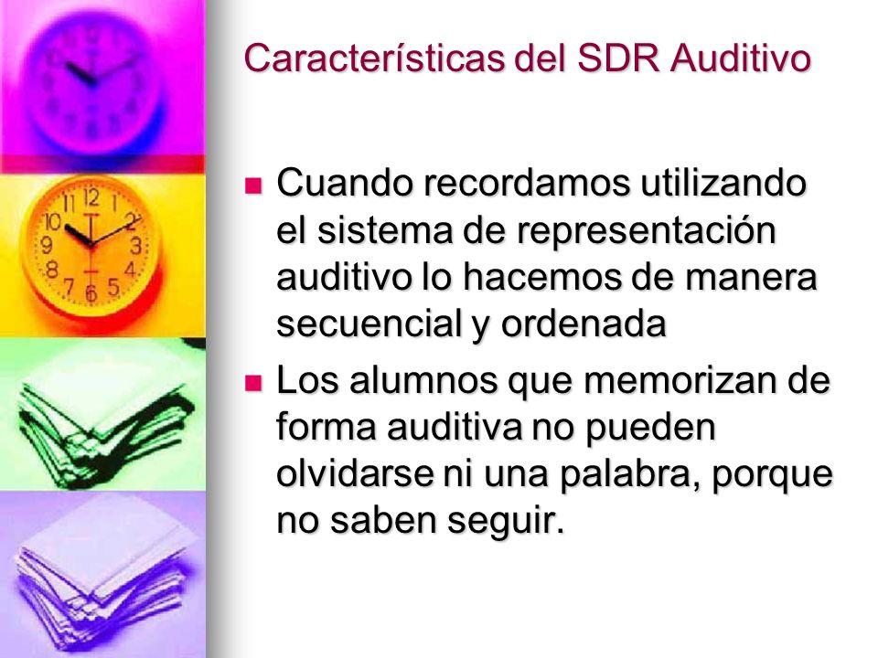 Características del SDR Auditivo
