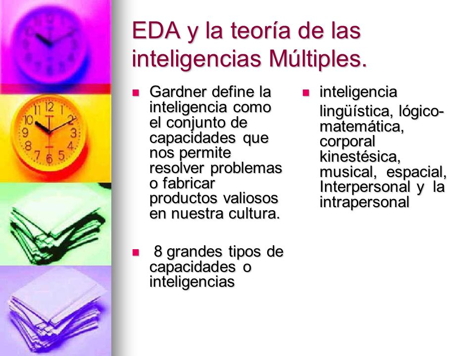 EDA y la teoría de las inteligencias Múltiples.