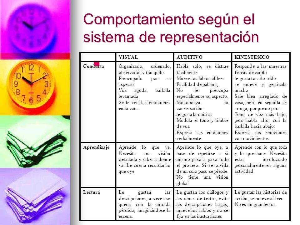Comportamiento según el sistema de representación