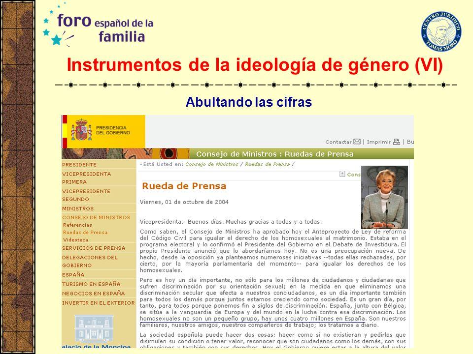 Instrumentos de la ideología de género (VI)
