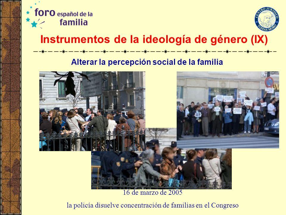 Instrumentos de la ideología de género (IX)