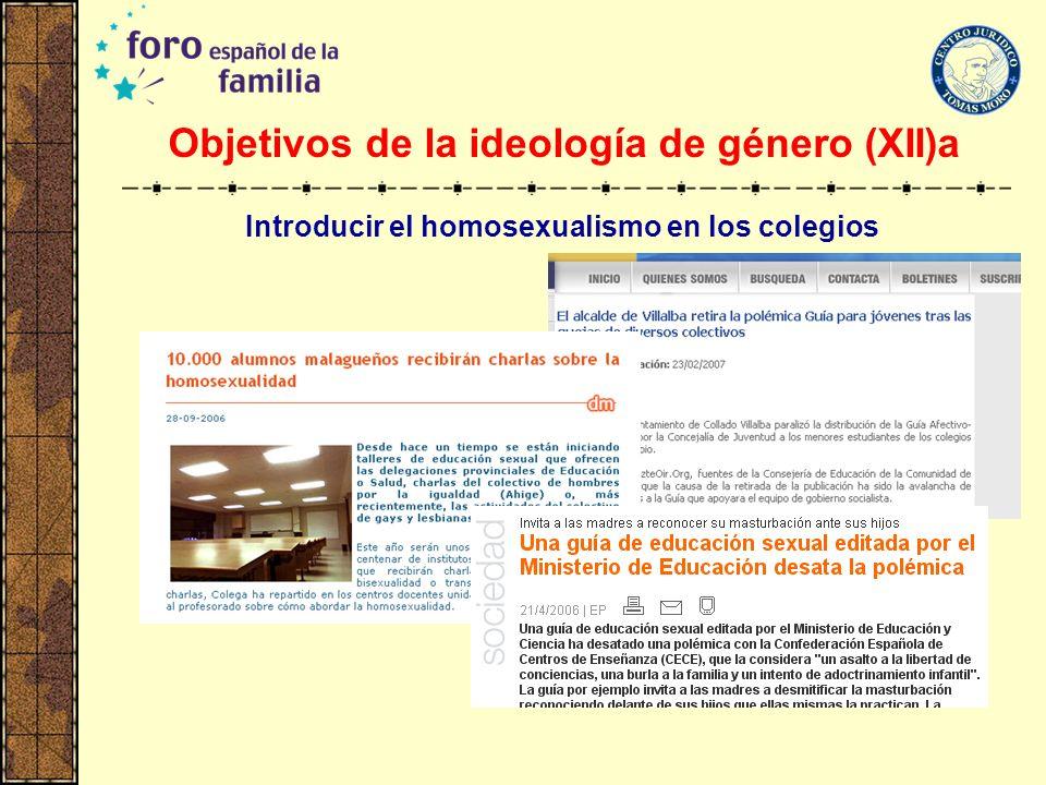 Objetivos de la ideología de género (XII)a