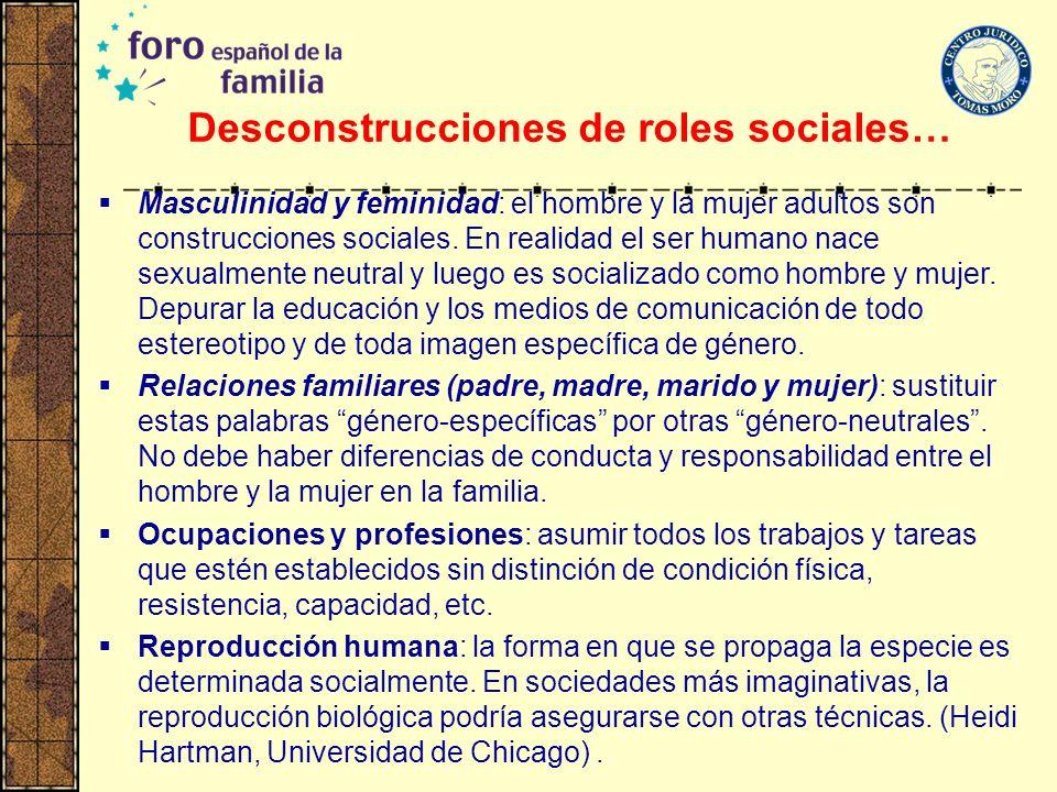 Desconstrucciones de roles sociales…