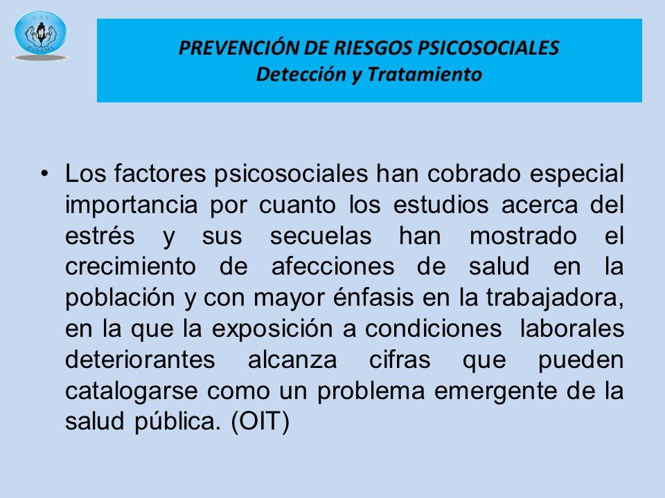 PREVENCIÓN DE RIESGOS PSICOSOCIALES Detección y Tratamiento