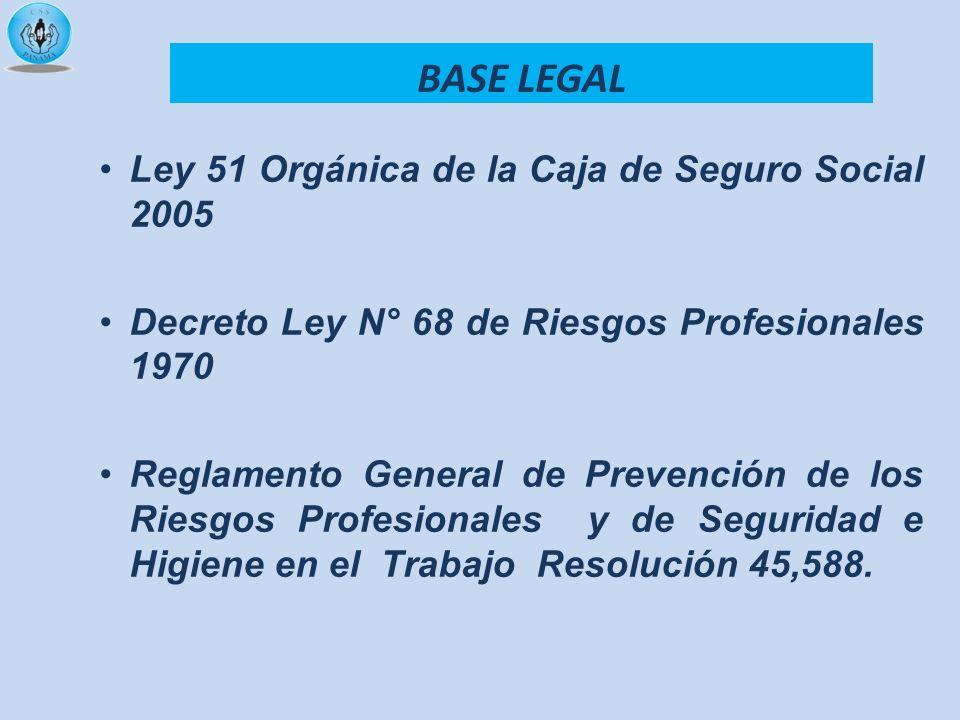 BASE LEGAL Ley 51 Orgánica de la Caja de Seguro Social 2005