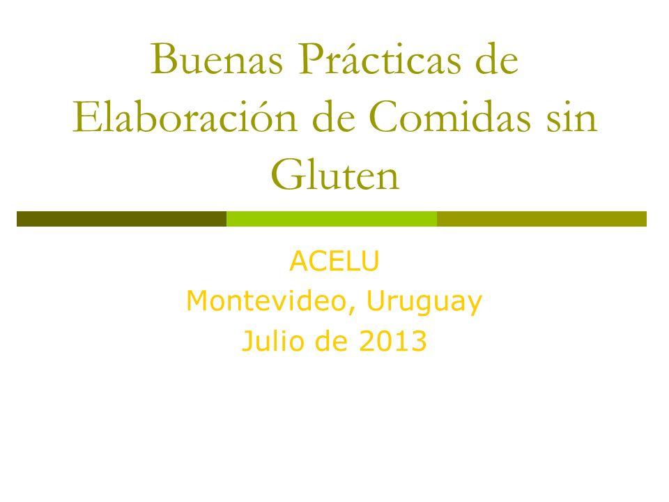 Buenas Prácticas de Elaboración de Comidas sin Gluten