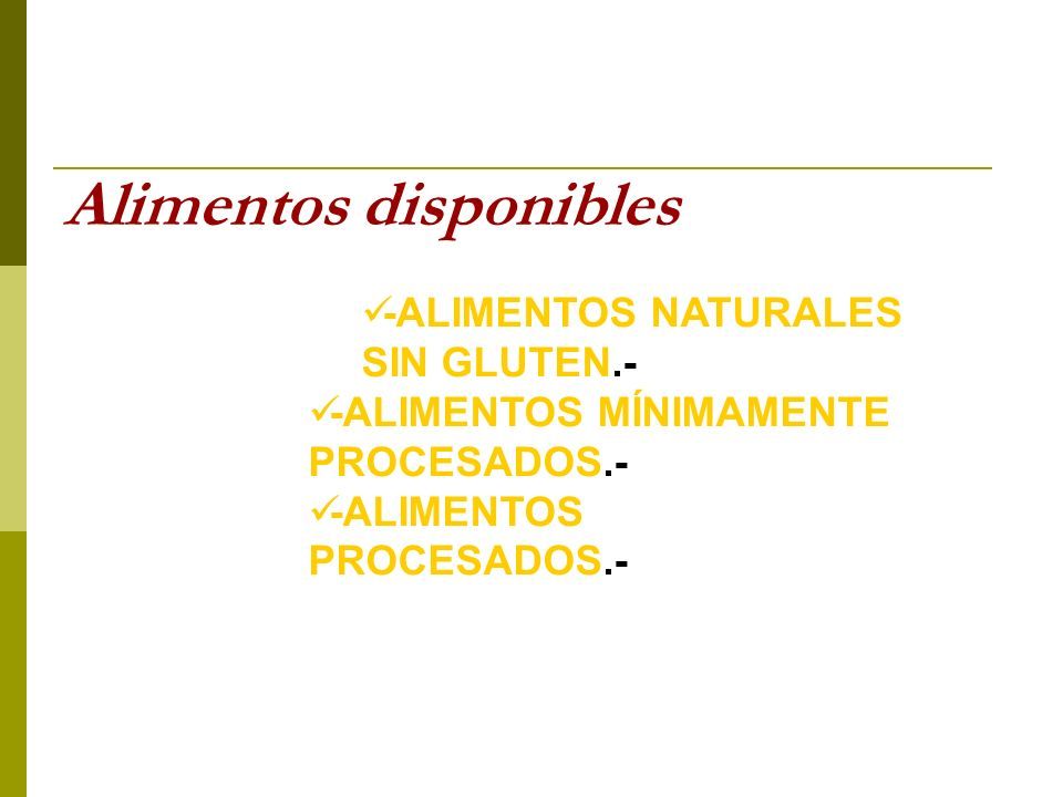 Alimentos disponibles