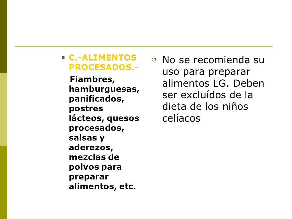 C.-ALIMENTOS PROCESADOS.-