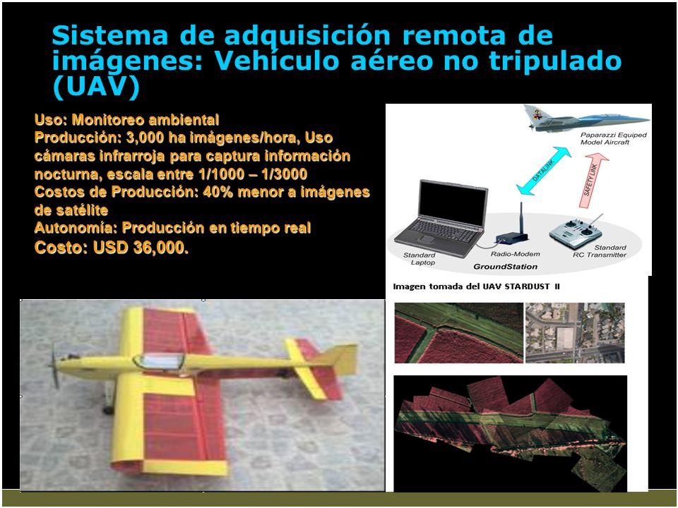 Sistema de adquisición remota de imágenes: Vehículo aéreo no tripulado (UAV)