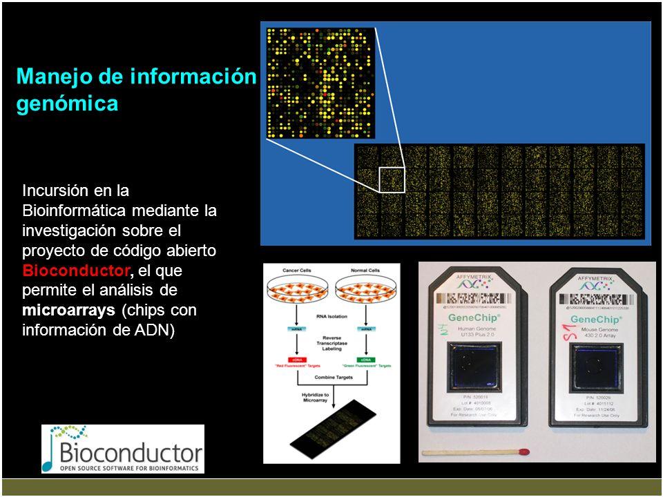 Manejo de información genómica