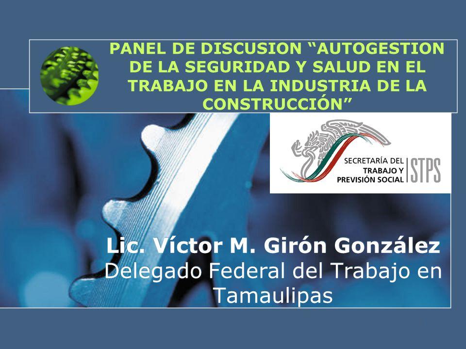 PANEL DE DISCUSION AUTOGESTION DE LA SEGURIDAD Y SALUD EN EL TRABAJO EN LA INDUSTRIA DE LA CONSTRUCCIÓN