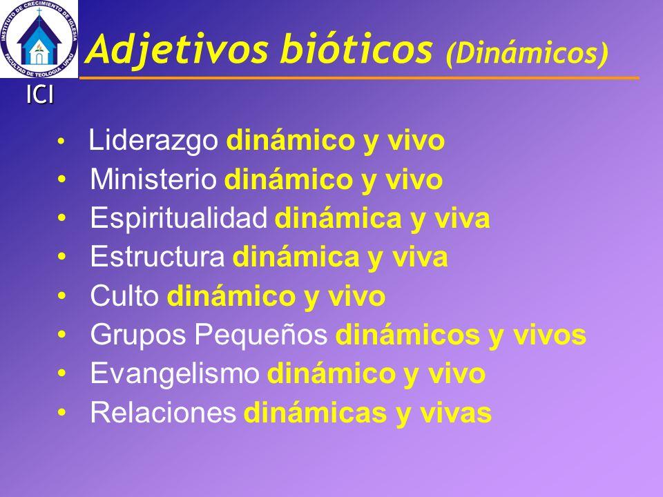 Adjetivos bióticos (Dinámicos)