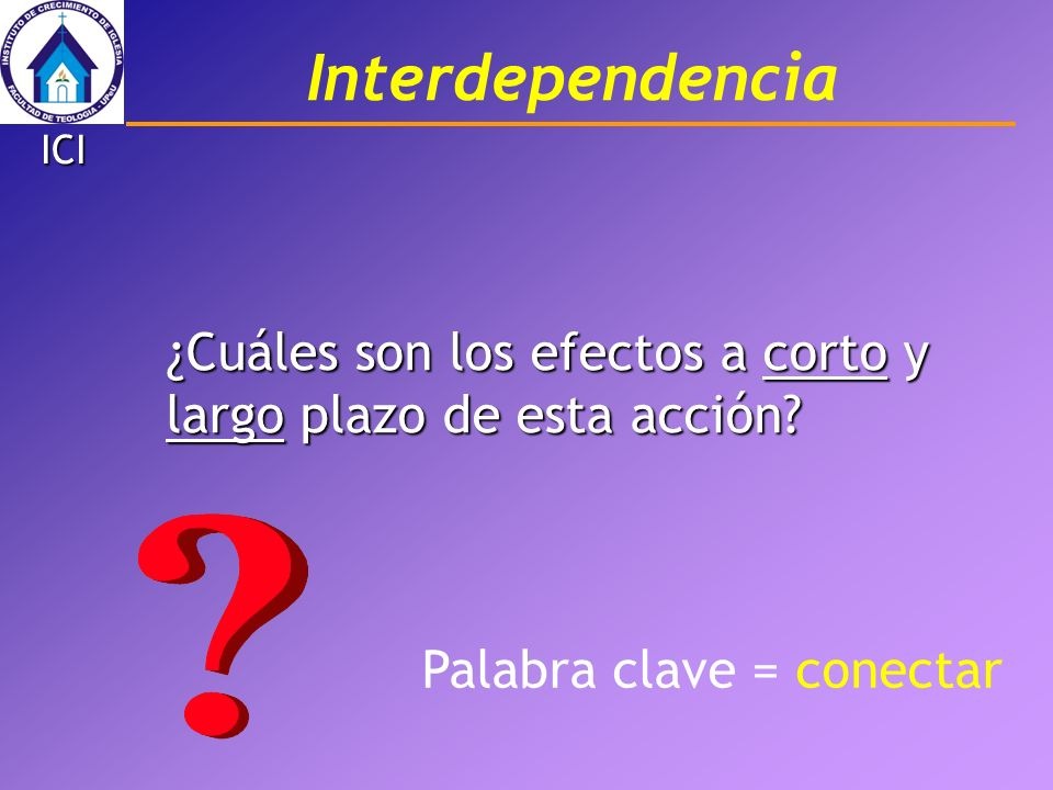 InterdependenciaICI.¿Cuáles son los efectos a corto y largo plazo de esta acción.