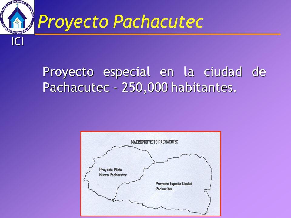Proyecto Pachacutec ICI Proyecto especial en la ciudad de Pachacutec - 250,000 habitantes.
