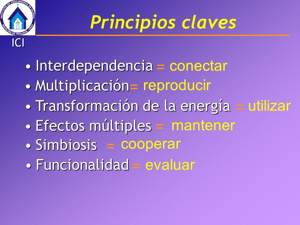 Principios claves conectar Interdependencia = Multiplicación =
