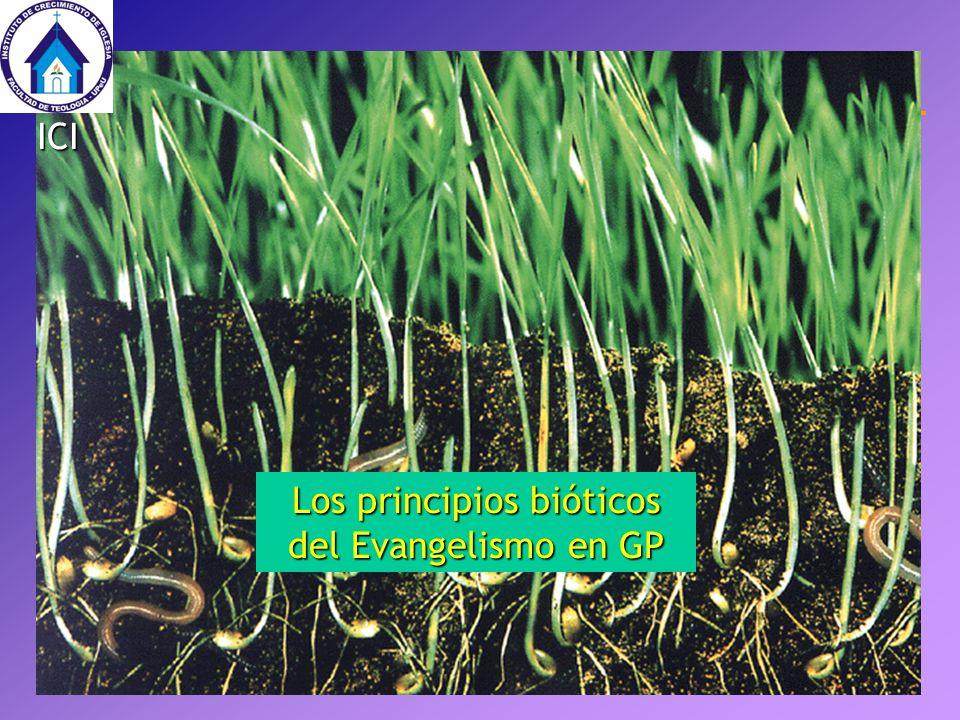Los principios bióticos del Evangelismo en GP