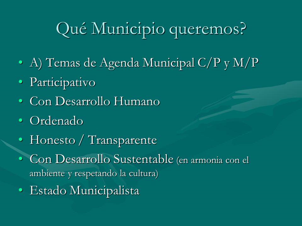 Qué Municipio queremos