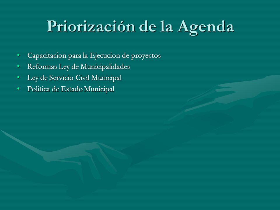 Priorización de la Agenda