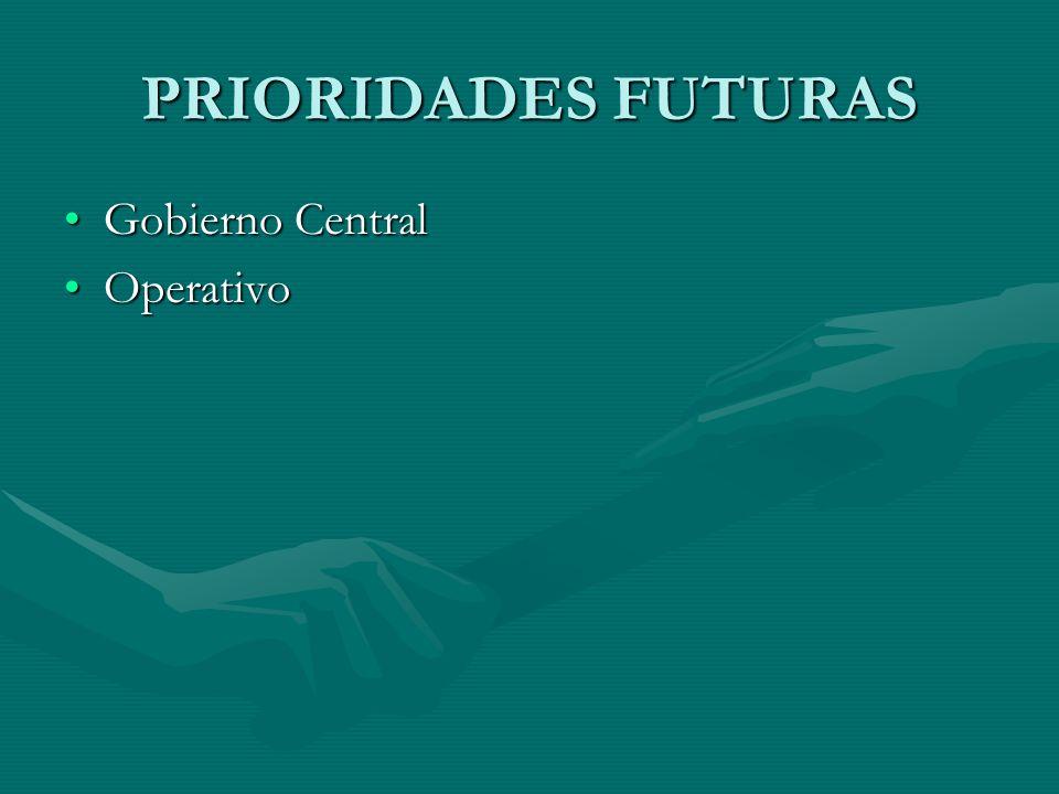 PRIORIDADES FUTURAS Gobierno Central Operativo