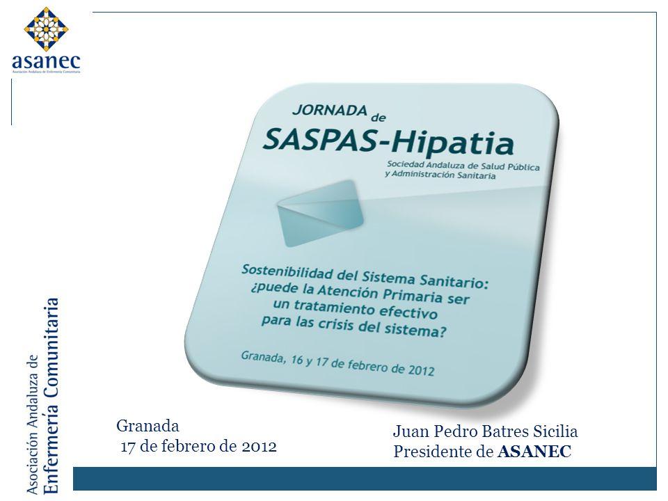 Granada 17 de febrero de 2012 Juan Pedro Batres Sicilia Presidente de ASANEC