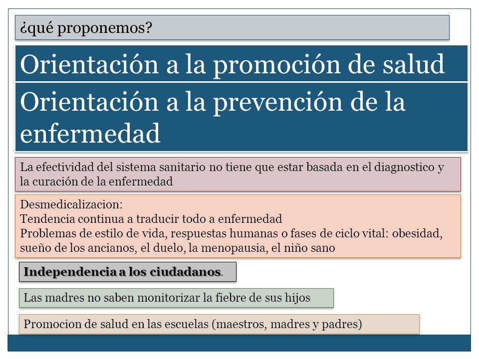 Orientación a la promoción de salud