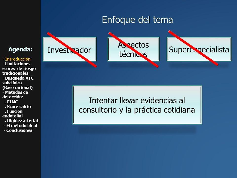 Intentar llevar evidencias al consultorio y la práctica cotidiana