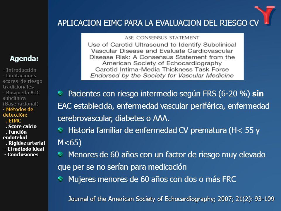 APLICACION EIMC PARA LA EVALUACION DEL RIESGO CV