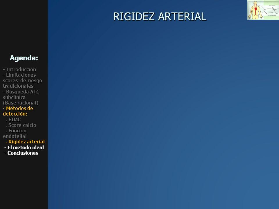 RIGIDEZ ARTERIAL Agenda: - Introducción