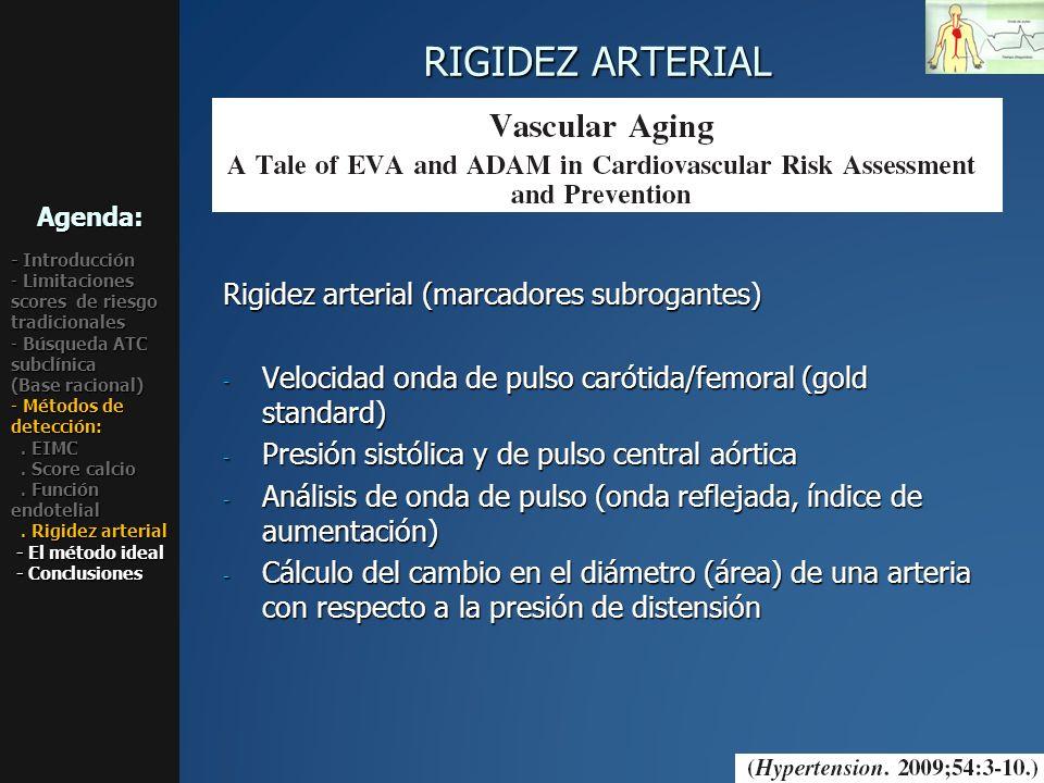 RIGIDEZ ARTERIAL Rigidez arterial (marcadores subrogantes)
