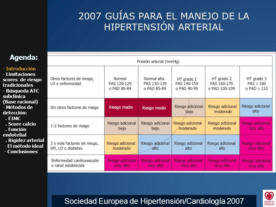 2007 GUÍAS PARA EL MANEJO DE LA HIPERTENSIÓN ARTERIAL