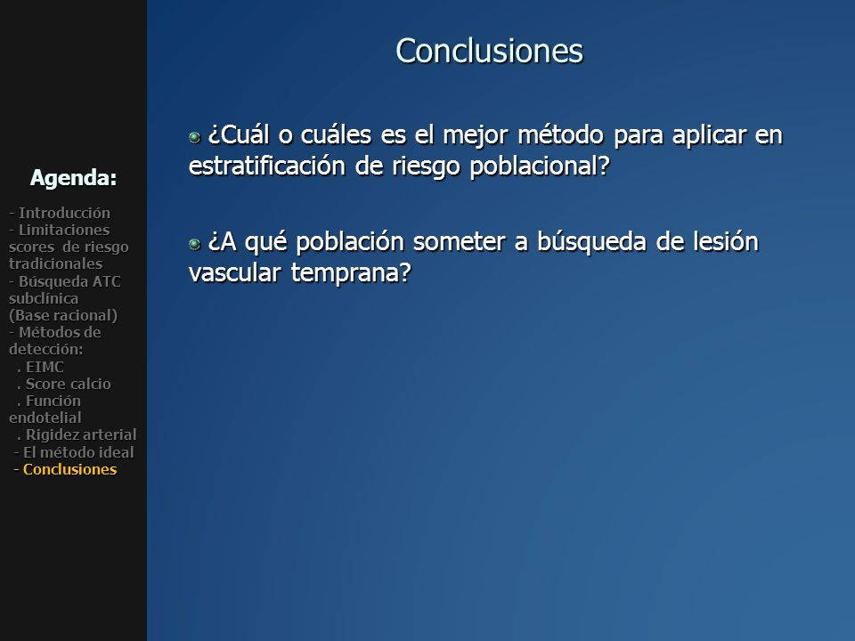 Agenda: - Introducción. Limitaciones scores de riesgo tradicionales. Búsqueda ATC subclínica (Base racional)