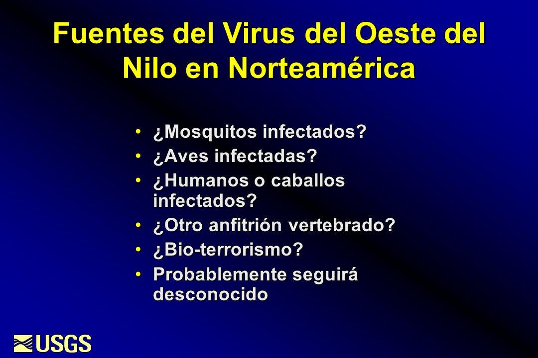 Fuentes del Virus del Oeste del Nilo en Norteamérica
