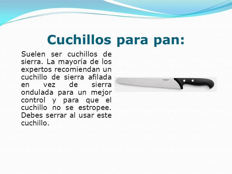 Cuchillos para pan: