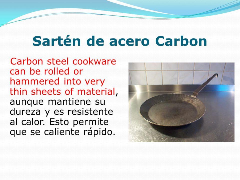 Sartén de acero Carbon