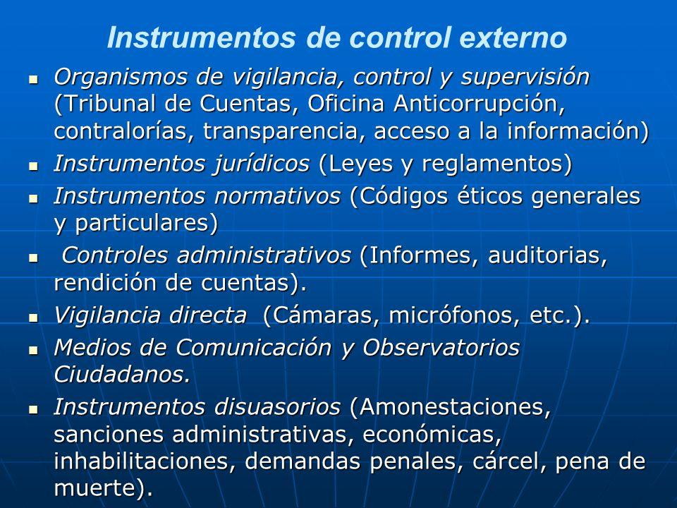 Instrumentos de control externo