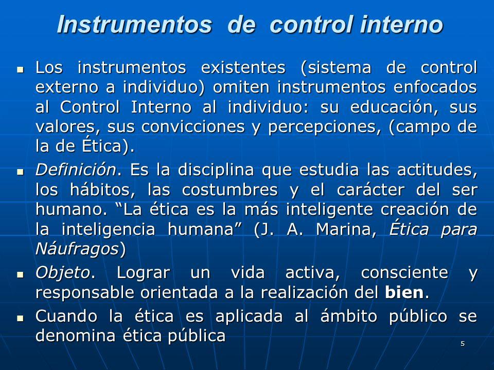 Instrumentos de control interno