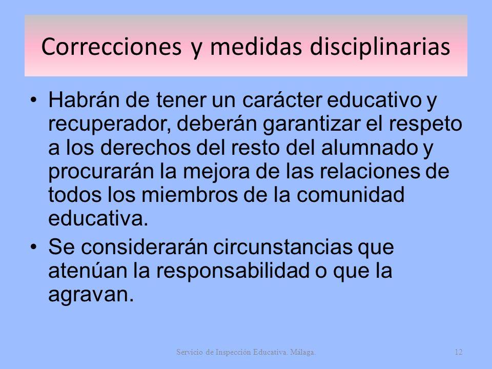 Correcciones y medidas disciplinarias