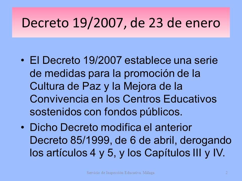Servicio de Inspección Educativa. Málaga.