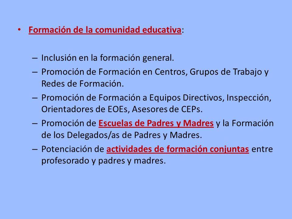 Formación de la comunidad educativa: