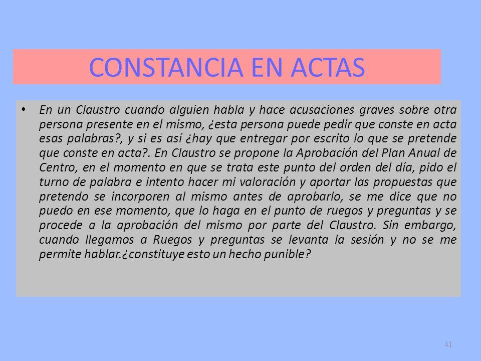 CONSTANCIA EN ACTAS