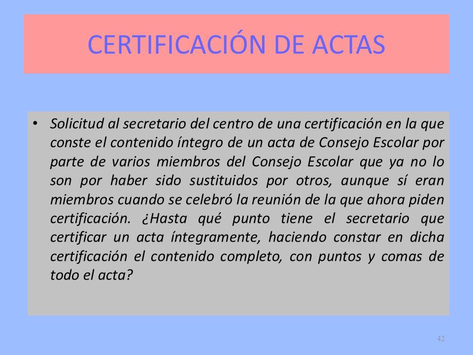 CERTIFICACIÓN DE ACTAS