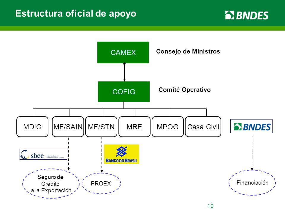 Estructura oficial de apoyo