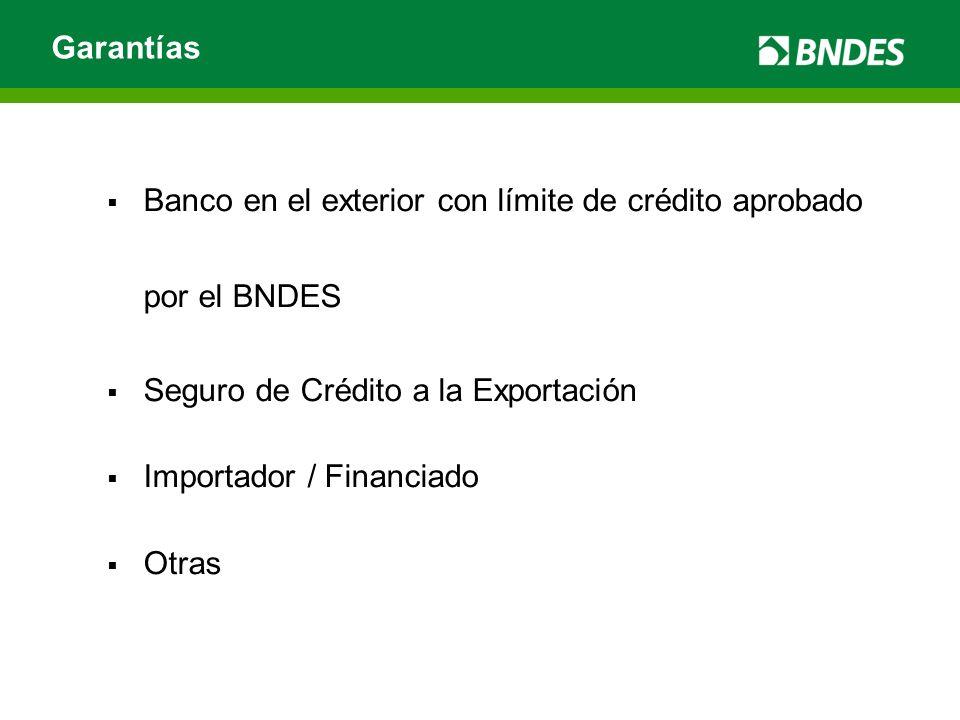 Banco en el exterior con límite de crédito aprobado por el BNDES